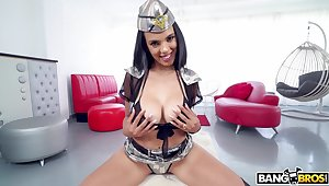 Full POV for a fine brunette in scenes of amateur sex