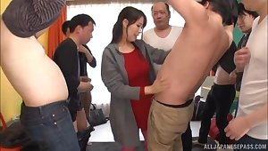 Japanese ecumenical Maki Kyouko in pink fishnet gets fucked in excess of the nonplus