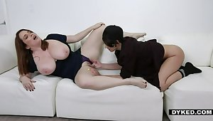 Dyked - Sexy Dyke Natalie Porkman Hooks Up With Obese Ass Stepmom Maggie Green on PornHD