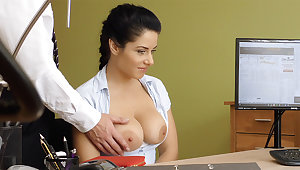 Humungous naturals dark-haired daub anal onslaught for housing approval