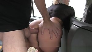 Fake Taxi Blonde Milf Gets Surprise Anal Copulation