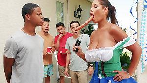 Hardest Oktoberfest group sex for stew wife