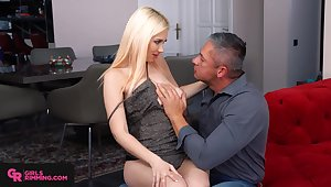 Giant breasted blonde typhoon Roxy Risingstar is fond of riding cock
