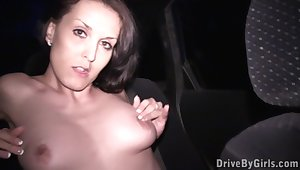 This girl won't leave her car there fuck