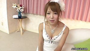Cute Japanese princess Misaki Akino gives some nice head