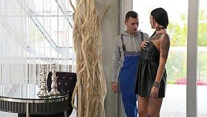 Brunette vixen Adel Asanty craves double penetration attention