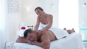 Busty masseuse Blair Williams is nailed doggy by aroused Ramon Nomar