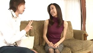 Small gut Japanese cutie Umifuji Mizuho gets pleasured with toys