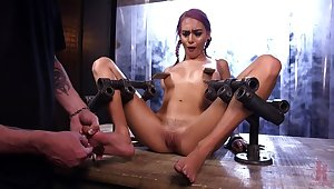 FLOOD: Submissive Women Restrict in Metal together with Made to Squirt