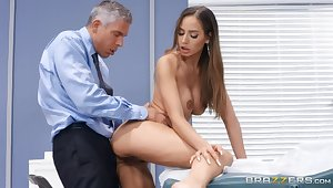 Piercing sex video featuring Mick Blue and Desiree Dulce
